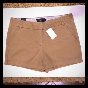 "J.crew chino shorts size 6 4"" inseam NWT"